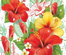 Vintage floral card template vectors design 12