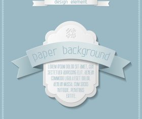 Vintage labels with paper background vectors 01