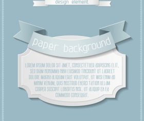 Vintage labels with paper background vectors 02