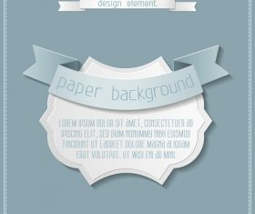 Vintage labels with paper background vectors 03