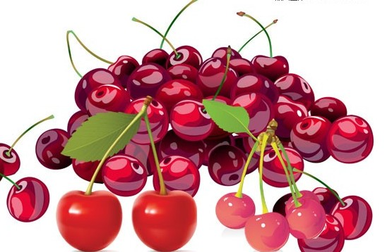 Vivid cherry vector material