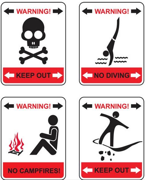 Warning Symbols graphic vectors graphic