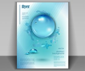 Water flyer cover template vectors 03
