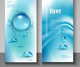 Water flyer cover template vectors 04