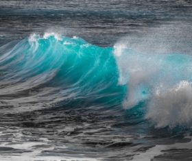 Waves rolled up on the sea Stock Photo