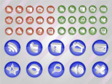 Web Vectors Button Pack vector