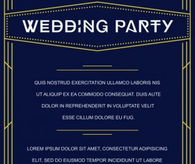 Wedding vintage invitation card template vectors 01