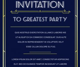 Wedding vintage invitation card template vectors 03