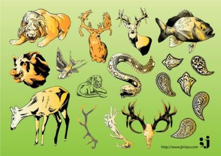 Wildlife Vector Illustrations vectors