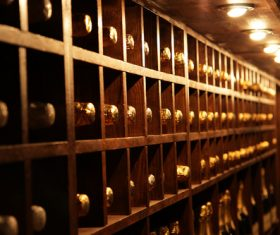 Wine stored in the basement 01