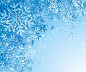 Winter cold christmas background vectors set 03