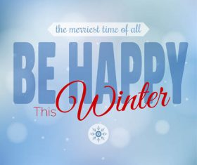 Winter cold christmas background vectors set 09