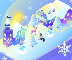 Winter gradient vector illustration