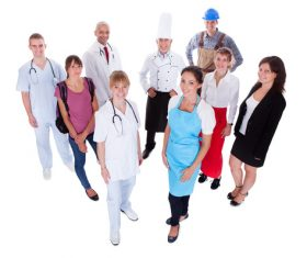 Women of different professions Stock Photo