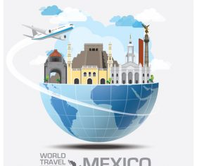 World travel with global travel creative vector design 05