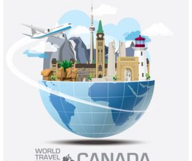 World travel with global travel creative vector design 06