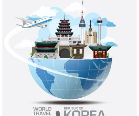 World travel with global travel creative vector design 07