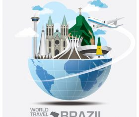 World travel with global travel creative vector design 08