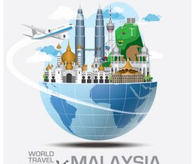 World travel with global travel creative vector design 11