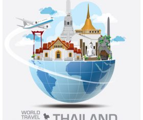 World travel with global travel creative vector design 13