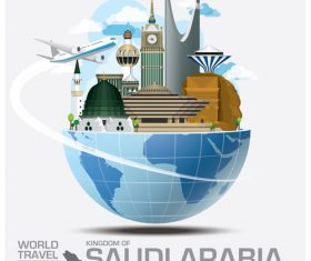 World travel with global travel creative vector design 15