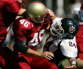 a big football game Stock Photo 04