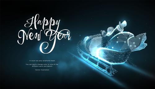 christmas shining stars light decor vector 03
