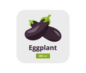 eggplant vector icon