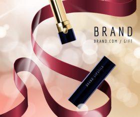 lipstick advertisement template vector 03