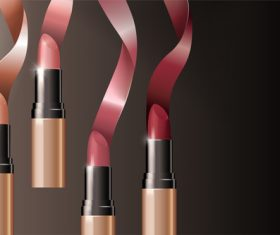 lipstick background design vector 01