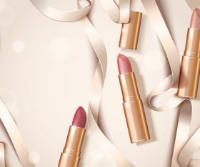 lipstick background design vector 02