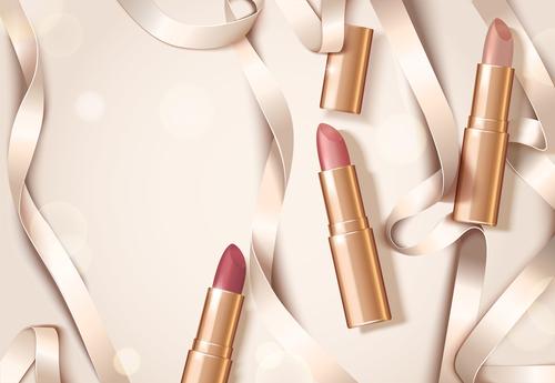 lipstick background design vector 02