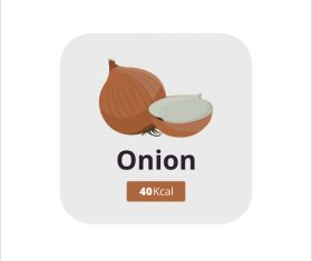 onion vector icon
