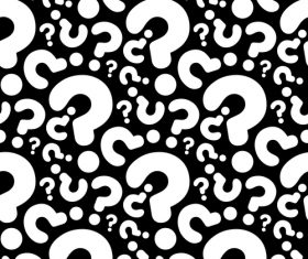 question seamless pattern vector