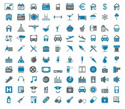 200 Free Web Icons design vector
