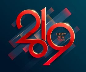 2019 new year background abstract design vector