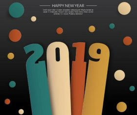 2019 new year creative vectors background design
