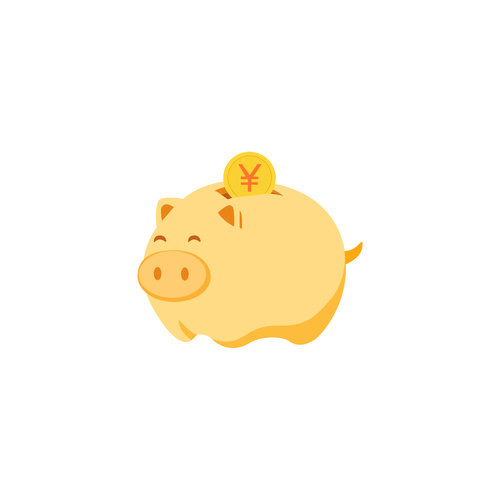 2019 year of the pig cute golden pig vector
