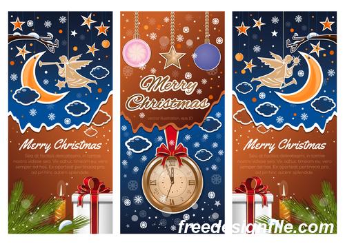 3 Kind Vector Christmas banners