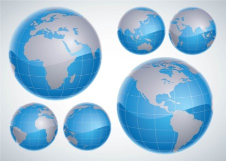 3D Globes vector