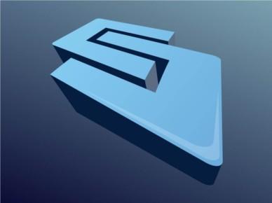 3D Shape Icon vectors material