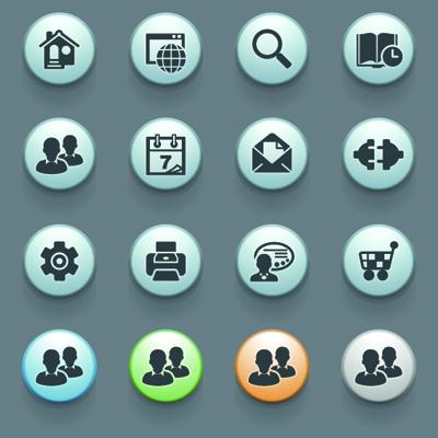 3D Social Icons 2 vector