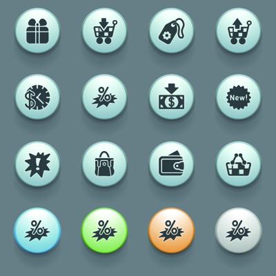 3D Social Icons 4 vector