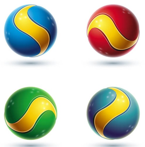 3D Spheres Logotypes art vector set