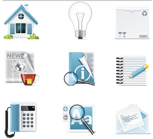 3D Style Icons design vectors