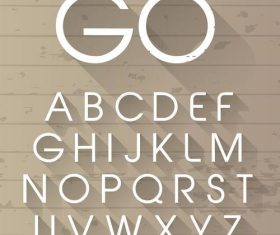 3D white alphabet font vector