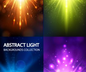 4 Kind shiny light vector backgrounds
