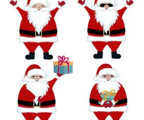 4 santa illustration design vector set