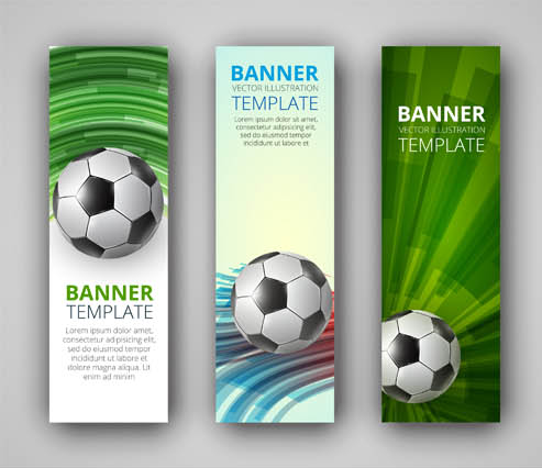 Abstact Football Banners shiny vector
