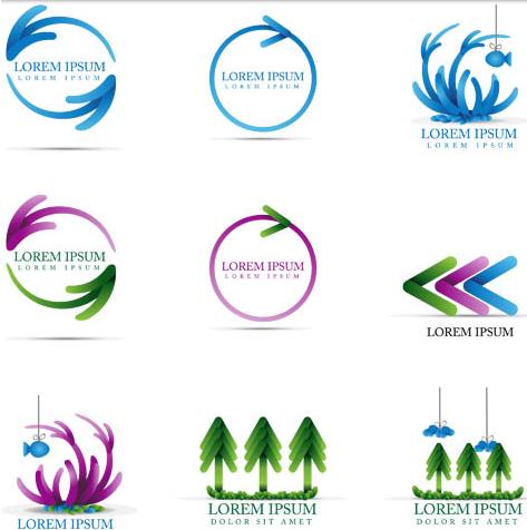 Abstract Arrows Logo vector graphics